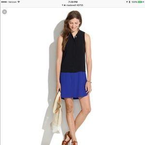MADEWELL Small Colorblock black Tunic dress $110